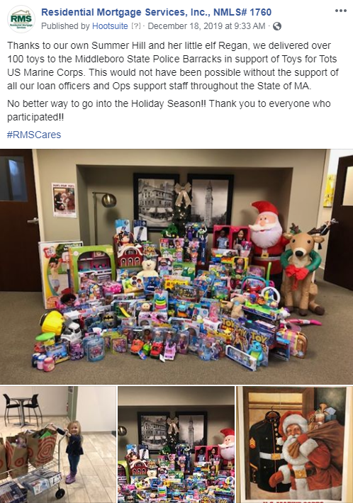 MA branches delivered over 100 toys to the Middleboro State Police Barracks