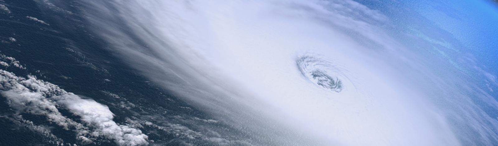 Hurricane as seen from a sattelite